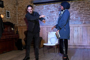 Halima Aden and Dynamo during his performance at #BoFVOICES on November 30, 2017 in Oxford, England.