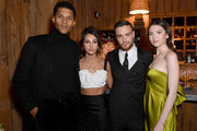 (L-R) Jordan Spence, Naomi.Scott, Liam Payne and Maya Henry attend the gala dinner in honour of Edward Enninful, winner of the Global VOICES Award 2019, during #BoFVOICES on November 22, 2019 in Oxfordshire, England.
