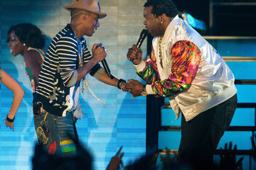 Busta Rhymes Pharrell Williams 2014 Coachella Valley Music and Arts Festival - Weekend 2 - Day 2