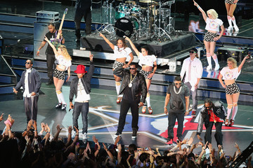 Busta Rhymes Sean Combs NBA All-Star Concert and Performances 2014