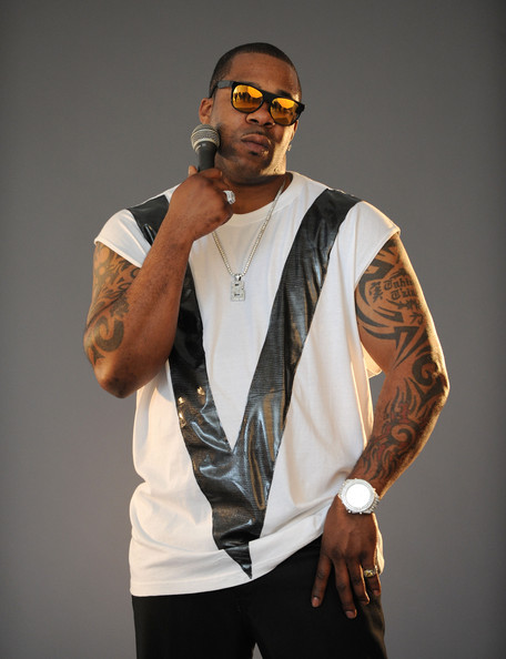 Hip hop artist busta rhymes poses at a photoshoot with venom energy at