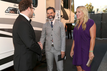 Busy Philipps Marc Silverstein Backstage at Comedy Central's James Franco Roast