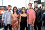 Tehmina Sunny (2nd L) and guests at BuzzFeed Presents: A Batsh!t Crazy Bash With The CW's Batwoman at San Diego Marriott Gaslamp Quarter on July 19, 2019 in San Diego, California.