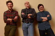 (L-R) Actors Adam Scott, Richard Jenkins and Clark Duke pose for a portrait during the 2013 Sundance Film Festival at the Getty Images Portrait Studio at Village at the Lift on January 23, 2013 in Park City, Utah.