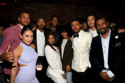 (L-R) Trevor Jackson, Francia Raisa, Michael B. Jordan, guest, Chloe Bailey, Yara Shahidi, Diggy Simmons, Marcus Scribner, and Deon Cole attend the CAA NAACP Image Awards After Party at The Jefferson on February 22, 2020 in Los Angeles, California.