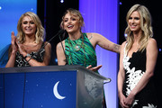 (L-R) Paris Hilton, Paris Jackson and Nicky Hilton Rothschild speak onstage during the CASA Of Los Angeles' 2018 Evening To Foster Dreams Galaat The Beverly Hilton Hotel on April 18, 2018 in Beverly Hills, California.