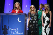 Kathy Hilton (L) accepts the Robert Morrison Community Service award during the CASA Of Los Angeles' 2018 Evening To Foster Dreams Galaat The Beverly Hilton Hotel on April 18, 2018 in Beverly Hills, California.