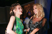 Paris Jackson (L) and Paris Hilton attend the CASA Of Los Angeles' 2018 Evening To Foster Dreams Galaat The Beverly Hilton Hotel on April 18, 2018 in Beverly Hills, California.