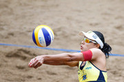 Juliana, in action during the CBBVP Open Beach Volleyball - Final at Enseada Beach on November 17, 2013 in Guaruja, Brazil.