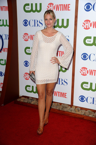 Actress A.J Cook arrives at the TCA Party for CBS, The CW and Showtime held at The Pagoda on August 3, 2011 in Beverly Hills, California.