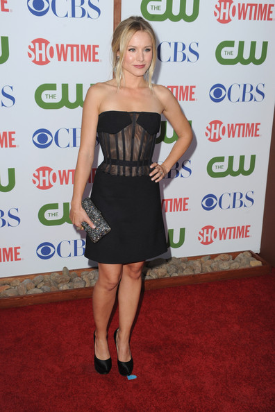 Actress Kristen Bell arrives at the TCA Party for CBS, The CW and Showtime held at The Pagoda on August 3, 2011 in Beverly Hills, California.