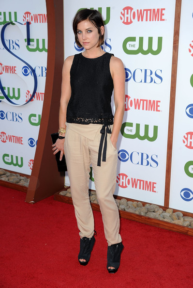 Actress Jessica Stroup  arrives at the TCA Party for CBS, The CW and Showtime held at The Pagoda on August 3, 2011 in Beverly Hills, California.