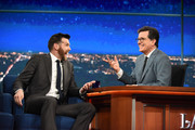 The Late Show with Stephen Colbert and Guest Timothy Simons during Friday's May 12, 2017 show in New York.