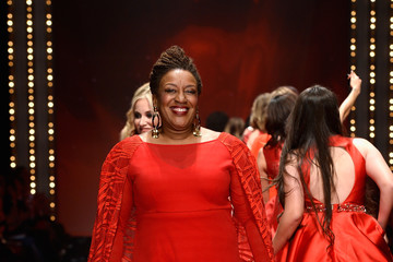 CCH Pounder The American Heart Association's Go Red For Women Red Dress Collection 2017 Presented By Macy's at Fashion Week in New York City - Runway