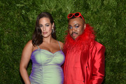 Ashley Graham and Christopher John Rogers attend the CFDA / Vogue Fashion Fund 2019 Awards at Cipriani South Street on November 04, 2019 in New York City.