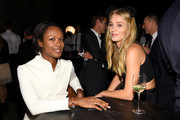 Shala Monroque (L) and Elizabeth Gilpin attend the CHANEL Dinner Celebrating N°5 THE FILM by Baz Luhrmann on October 13, 2014 in New York City.