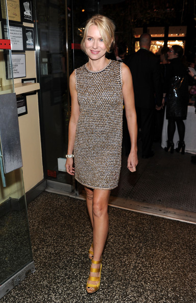 Actress Naomi Watts the CHANEL Tribeca Film Festival artisits dinner at The Odeon on April 25, 2011 in New York City.
