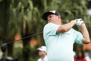 Jason Dufner of the United States plays his shot on the first tee during the final round of the CIMB Classic at TPC Kuala Lumpur on October 14, 2018 in Kuala Lumpur, Malaysia.