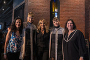 (L-R) Leslie Fram, Holly Laessig, Sheryl Crow, Jess Wolfe and Margaret Comeaux pose for a photograph during CMT Crossroads: Sheryl Crow & Friends at Clementine Hall on August 22, 2019 in Nashville, Tennessee.