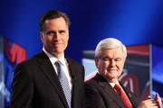 Mitt Romney and Newt Gingrich Photos Photo