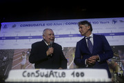 IAAF President Sebastian Coe and CONSULDATE President Robert Gesta De Melo during the CONSULDATE Centenary Dinner and Show on July 27, 2018 in Buenos Aires, Argentina.