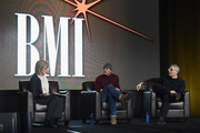 Beverlee Brannigan (EW Scripps Co.) Singer/Songwriter Tim McGraw and  R.J. Curtis (All Acess) attend CRS 2016 - Day 3 at The Omni Hotel on February 10, 2016 in Nashville, Tennessee.