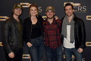 (L-R) Jimmy Robbins, Nicolle Galyon, Colel Taylor and Matt Rogers take photos backstage during day 2 of CRS 2018 on February 6, 2018 in Nashville, Tennessee.