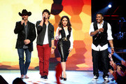 "(L-R) Recording artists John Rich, Joe Jonas, Gloria Estefan and Nelly perform during CW's ""The Next"" Taping at The Orpheum Theatre on October 4, 2012 in Los Angeles, California."