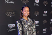 Zoe Saldana attends the Cadillac Oscar Week Celebration at Chateau Marmont on February 6, 2020 in Los Angeles, California.