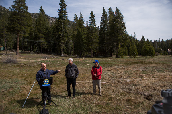 California's Dept. of Water Resources Conducts Snow Survey in Sierras