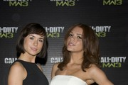 (L-R) Imogen Leaver and Jade Thompson pictured at the Call of Duty: Modern Warfare 3 launch event at The Old Billingsgate on November 7, 2011 in London, England.
