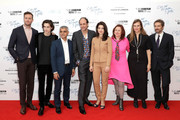 """(L-R) Armie Hammer, Timothee Chalamet, Sadiq Khan, Luca Guadagnino, Esther Garrel, Clare Stewart, Emilie George and guest attend the Mayor Of London Gala & UK Premiere of """"Call Me By Your Name"""" during the 61st BFI London Film Festival on October 9, 2017 in London, England."""