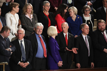 Callista Gingrich Donald Trump Delivers Address to Joint Session of Congress