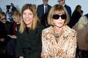 (L-R) Vogue's Fashion Market/Accessories Director, Virginia Smith, and  Editor-in-chief of American Vogue, Anna Wintour attend the Calvin Klein Collection Fall 2016 fashion show during New York Fashion Week at Spring Studios on February 18, 2016 in New York City.