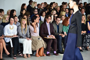 Amy Astley and Hamish Bowles attend the Calvin Klein Collection fashion show during Mercedes-Benz Fashion Week Spring 2015 at Spring Studios on September 11, 2014 in New York City.