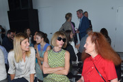 (L-R) Virginia Smith, Vogue editor-in-chief and Conde Nast artistic director Anna Wintour, Vogue creative director Grace Coddington attend the Calvin Klein Collection Spring 2016 fashion show during New York Fashion Week: The Shows at Spring Studios on September 17, 2015 in New York City.