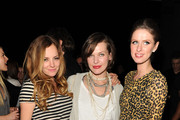 (l-r) Actress Bijou Phillips, Milla Jovovich, Nicky Hilton pose at Calvin Klein Collection & Los Angeles Nomadic Division (LAND) 1st Annual Celebration For L.A. Arts Monthly and Art Los Angeles Contemporary (ALAC) on January 28, 2010 in Los Angeles, California.