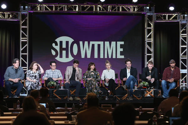 2016 Winter TCA Tour - Day 8 [cameron crowe,winnie holzman,j.j.,writer,actors,peter cambor,l-r,portion,performance,music,event,stage,concert,musician,public event,performing arts,musical ensemble,jazz club,winter tca,executive producer]