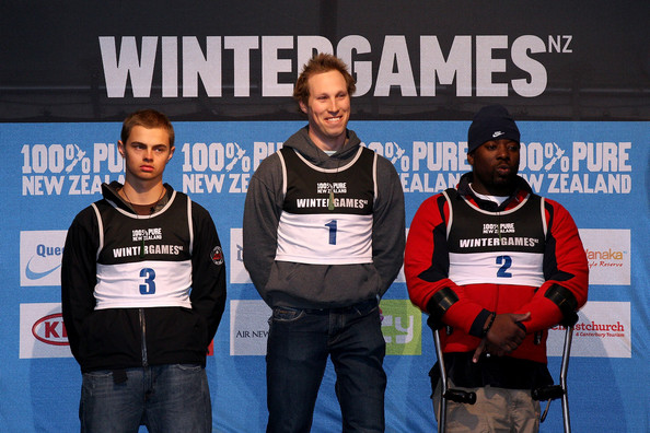 Winter Games NZ - Day 11: Giant Slalom - Womens + Adaptive [winter games,team,technology,championship,electronic device,recreation,competition event,womens,giant slalom,place,pose,podium,l-r,nz,usa,australia]