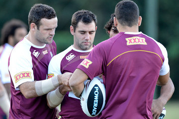 Cameron Smith Greg Inglis Queensland Maroons Training Session