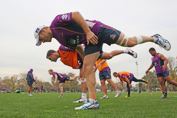 Cameron Smith Ryan Hinchcliffe Melbourne Storm Training Session