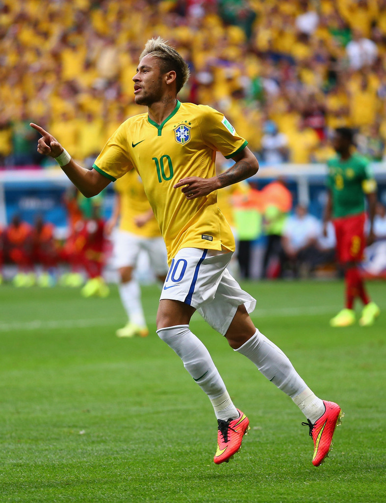 Neymar in Cameroon v Brazil: Group A - 2014 FIFA World Cup ...