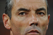 Paul Le Guen head coach of Cameroon looks thoughtful ahead of the 2010 FIFA World Cup South Africa Group E match between Cameroon and Netherlands at Green Point Stadium on June 24, 2010 in Cape Town, South Africa.