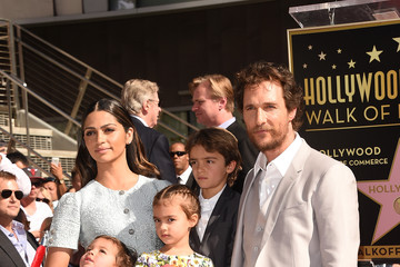 Camila Alves Levi Mcconaughey Matthew McConaughey Honored on the Walk of Fame