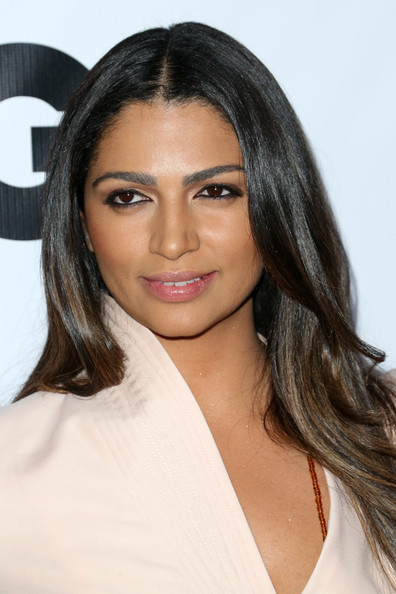 GQ Men Of The Year Party - Arrivals [hair,face,eyebrow,hairstyle,lip,layered hair,beauty,long hair,chin,brown hair,arrivals,camila alves mcconaughey,los angeles,the ebell club,california,gq men of the year party]