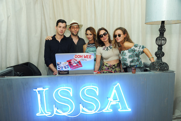 ISSA London Lunch Celebrating British Fashion And Fashion Illustration At The Tent At Soho Beach House