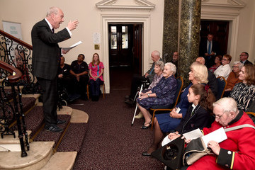 Camilla Parker Bowles Gyles Brandreth The Duchess Of Cornwall Undertakes Literacy Engagements In London