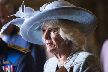 Camilla Parker Bowles The Prince Of Wales & Duchess Of Cornwall Attend Battle Of Britain Fighter Association Service Of Thanksgiving & Rededication