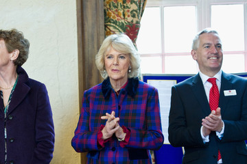 Camilla Parker Bowles The Duchess of Cornwall Undertakes Engagement For The National Literary Trust