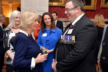 Camilla Parker Bowles The Duchess of Cornwall Attends a Poppy Factory Reception